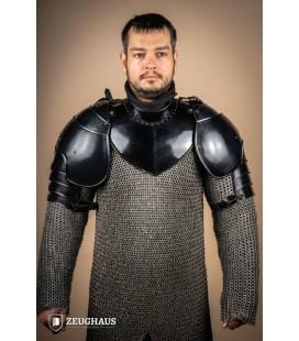 "Pauldrons ""Knight"", blackened"