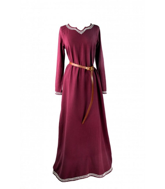 Brigida vestido medieval - Rojo