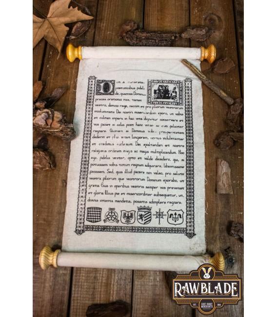 Pergamino Medieval con cierre de cuero