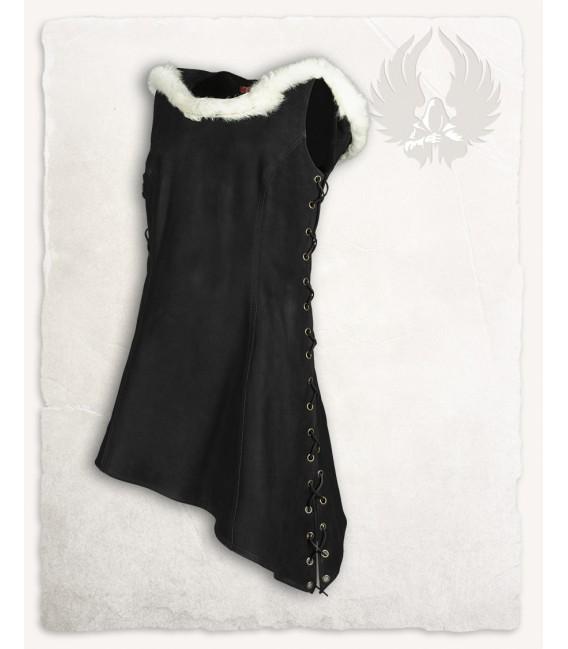 Freya Vestido con capucha - Negro