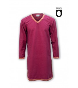 Tunic with braid - Burgundy