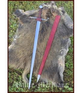 Espada de mano y media w. Vaina, práctica roma, SK-B