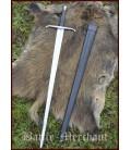 Espada italiana de mano y media con vaina, práctica roma