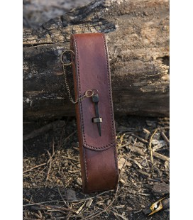 Cutlery w. Leather Hanger - Brown