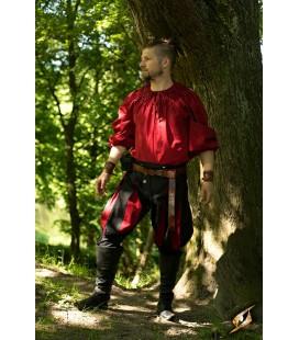 Pantalones de Landsquenete Negro y Rojo