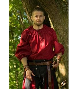 Camisa Plisada Roja
