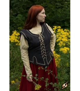 Vestido Combinado-Gris