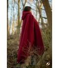 Capa de Lana en Rojo Oscuro