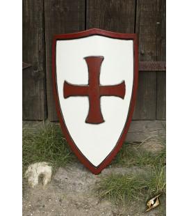 Escudo Templario Rojo y Blanco