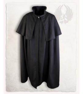 Bron cloak with pelerine wool black