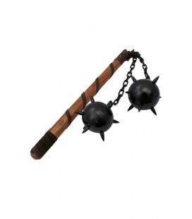 Morning star, two balls, long grip with chain