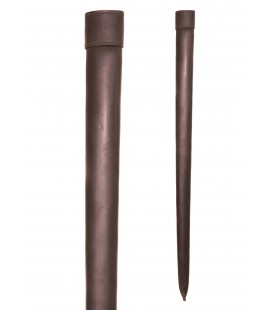 Brown leather scabbard for blunt practical swords