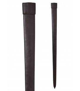 Leather scabbard for one-and-a-half handed sword