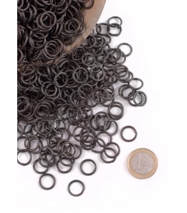 Loose rings, butted, blackened, 9 mm ID, 3 kg