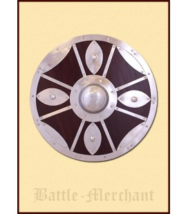 Round shield with steel fittiings
