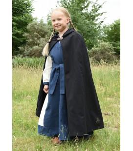 Medieval Cloak Paul for Children, black