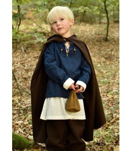 Medieval Cloak Paul for Children, brown