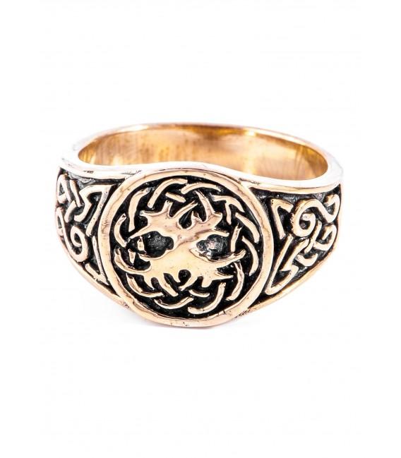 Celtic Ring, Yggdrasil, bronze