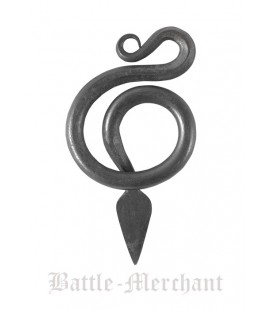 Snake Pendant, hand-forged steel