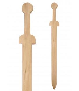 Medieval wooden practice sword, 66 cm