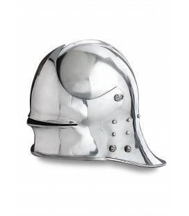 German Sallet, circa 1480, 1.6 mm steel with leather liner