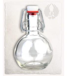 Botella redonda de 200 ML. con cierre hermético