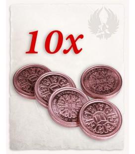 Monedas de Cobre para LARP set de 10