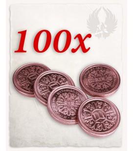 Moneda de Cobre para LARP set de 100