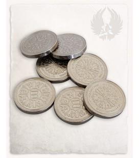 Monedas de Plata para LARP set de 10