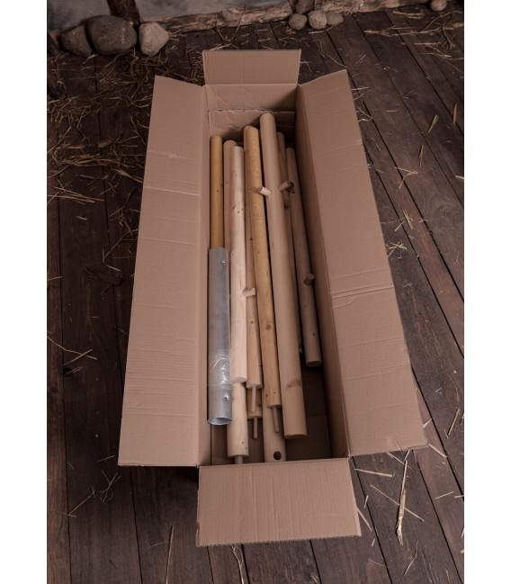 Set of Wooden Poles for Knight Tent Herwald, 3 m