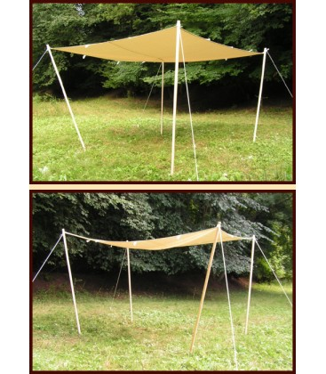 toldo extra fuerte, con bucles, 450 g / m², color natural