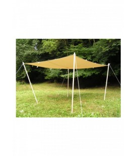 Toldo / lona, ​​con bucles, 360 g / m², color natural