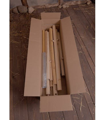 Set of Wooden Poles for Historical Army Tent 4.50 x 3.00 m