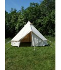 LARP Tent Merglin, 3 m in Diameter, 340 gsm, natural-coloured
