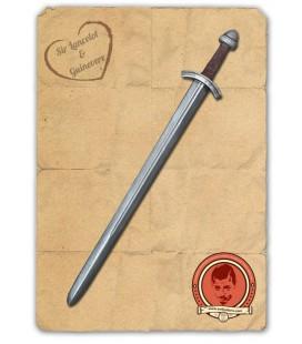 Espada Larga Plateada y Bronce Torge