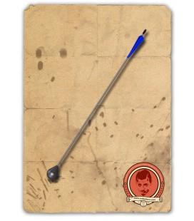 Flecha Cabeza Redonda Negra y Azul