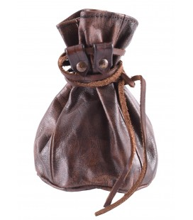 Big Leather Pouch, brown