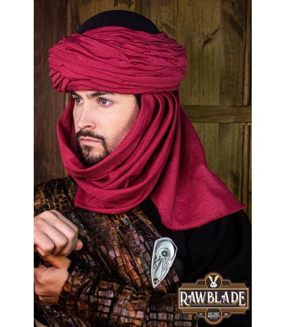 Azraq, Turbante Negro y Rojo