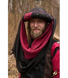 Turbante Jafar Negro y Rojo
