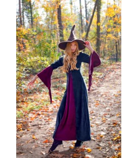 Circe Vestido Terciopelo - Negro/Rojo