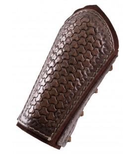 Brazos de cuero con relieve y capa inferior de ante, par, varios colores
