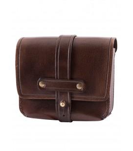Pequeño bolso de cuero con trabillas para el cinturón, varios colores