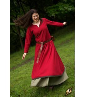 Basic Dress - Red/Brown