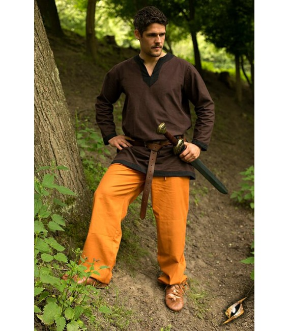 Pantalones Básicos Ocre