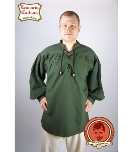 Camisa de algodón medieval simple Uther