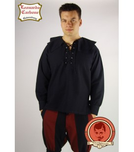 Camisa medieval de algodón Louen