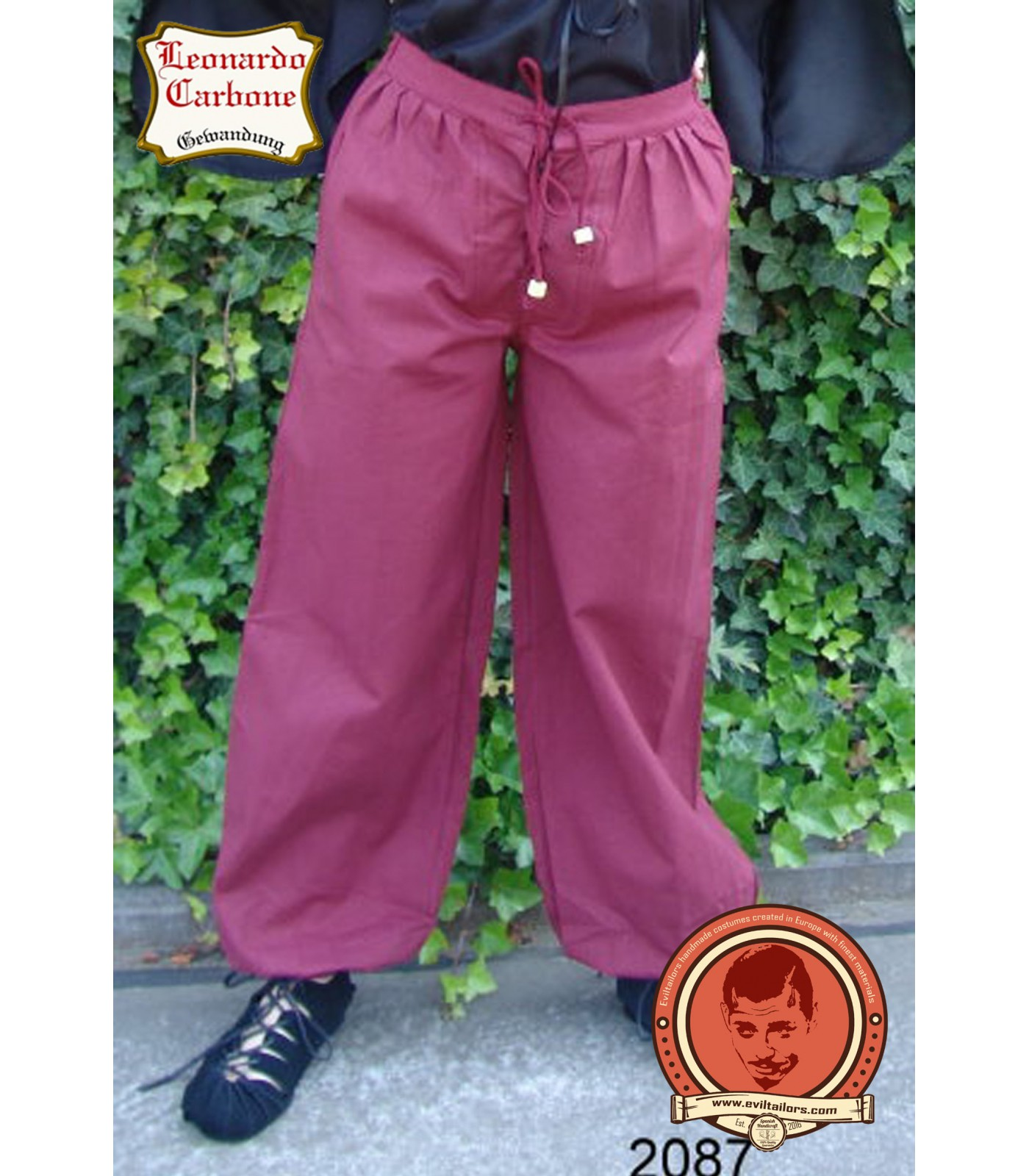 Pantalones de algodón medieval clásico Rüdiger - Eviltailors