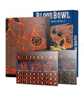 Blood Bowl Chaos Chosen Double-sided Pitch and Dugouts Set (Inglés)